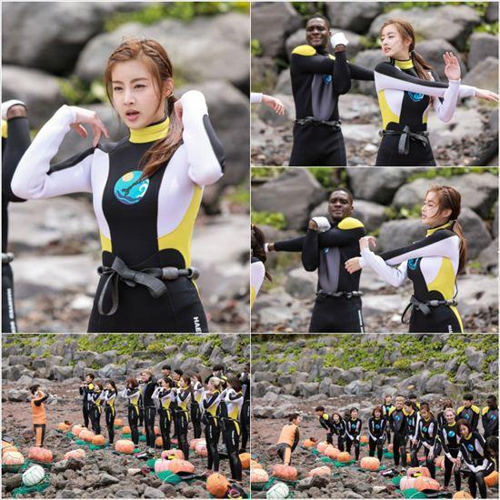 《心情好又暖》姜素拉海女劇照 潛水服凸顯好身材