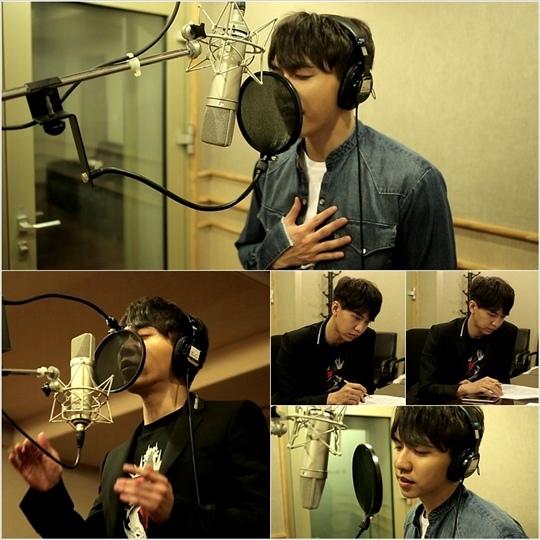 李昇基新專輯《AND》錄製現場 時而溫柔時而輕快