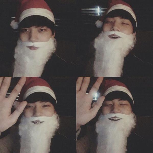 呂珍九搞怪戴鬍子變聖誕老人慶聖誕