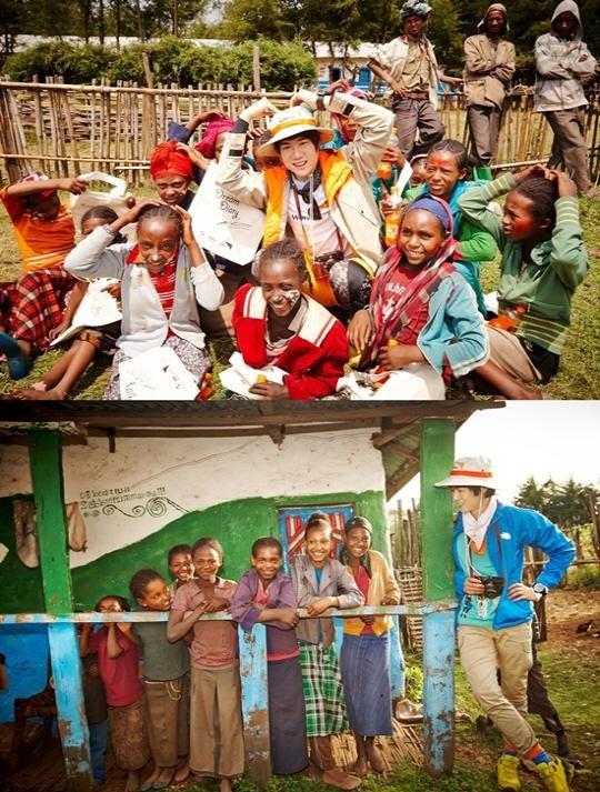 柳演錫傳遞正能量 為衣索比亞兒童獻愛心