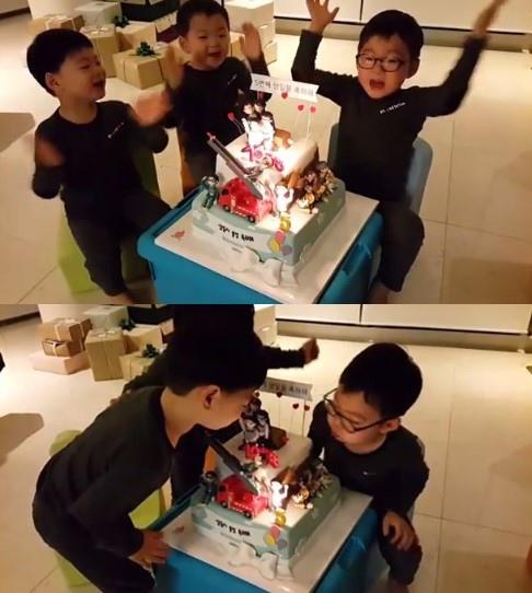 宋一國公開三胞胎近況 提前慶祝兒子生日