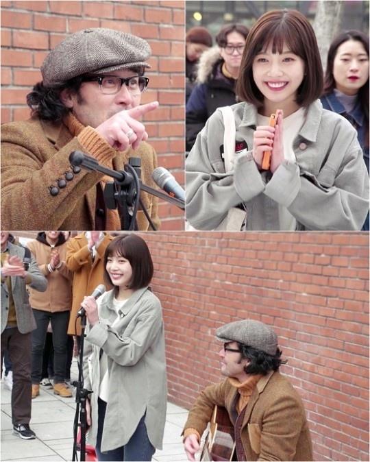 《她愛上了我的謊》公開劇照 JOY崔民秀進行街頭演出