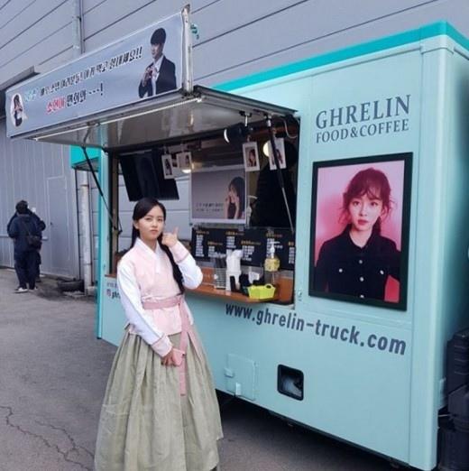 玉澤演送咖啡車支持金所炫 不忘邀其軍隊探望