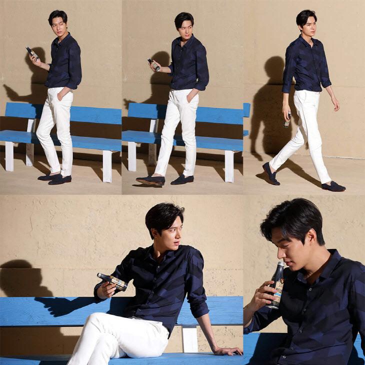 李敏鎬拍電視廣告 大長腿走到哪裡都是T台