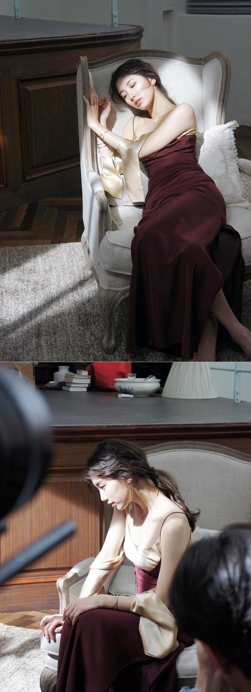 秀智廣告拍攝花絮公開 清純優雅散發女神風采