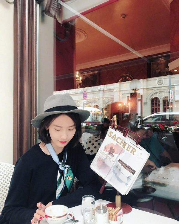 潤娥SNS發布照片 公開維也納旅途