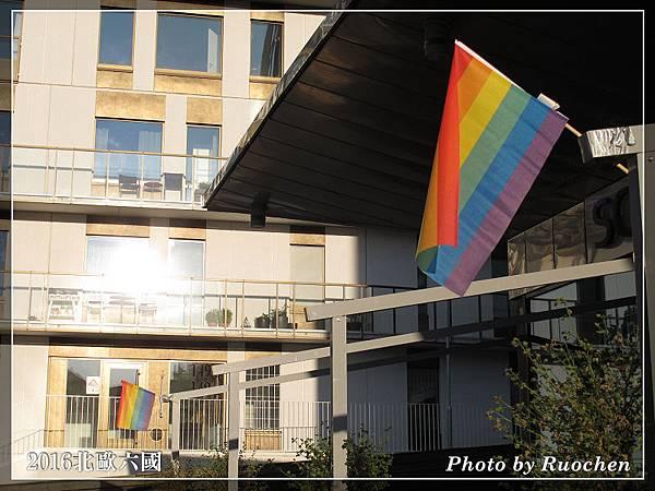 SCANDIC ALVIK STOCKHOLM也掛彩虹旗
