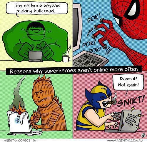 超級英雄不用電腦的原因