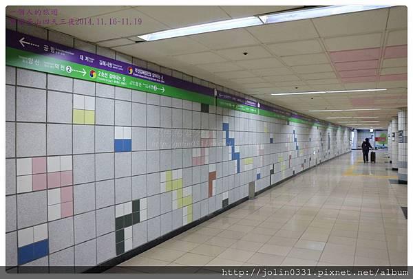 韓國釡山金海機場快線沙上站轉地鐵2號綠線