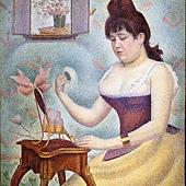 秀拉的圖--擦粉的女人.jpg