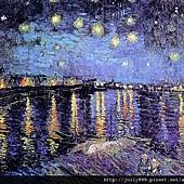 梵谷的圖--隆河星夜.jpg