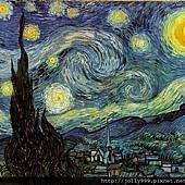 梵谷的圖--星夜.jpg