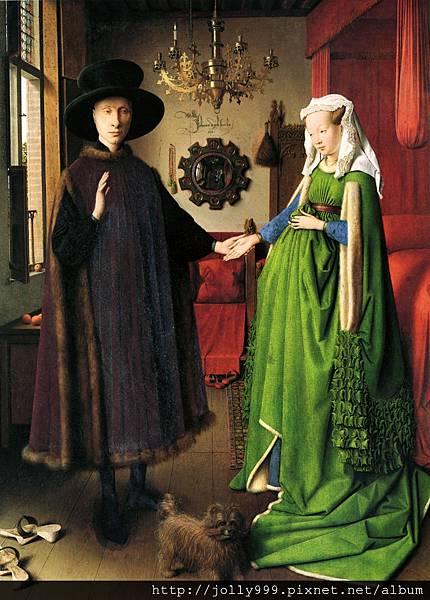 范‧艾克的圖《阿諾菲尼的婚禮》.jpg