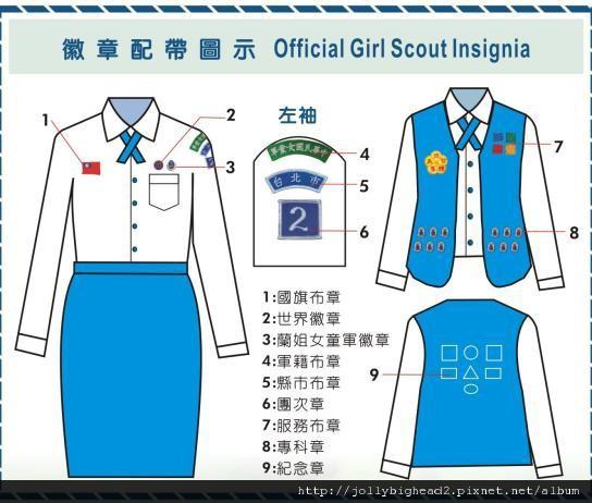 蘭姐女童軍服裝配備