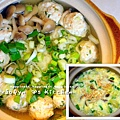 2012-10-10-四季江戶味之秋季料理-軍機鍋-雞肉丸子鍋+湯底粥1(001)