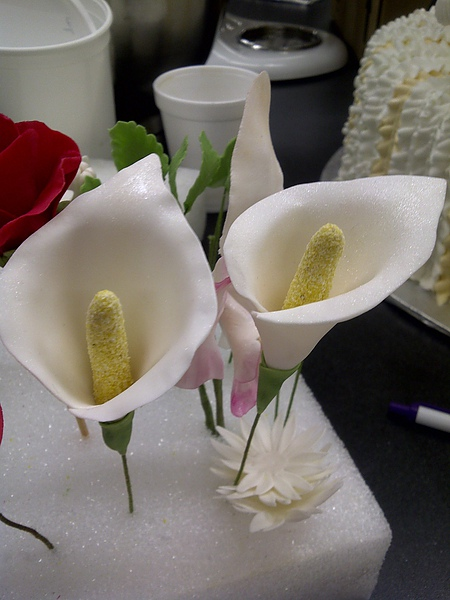 Gum Paste Flowers-Calla Lilies