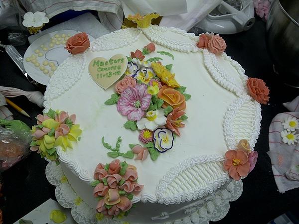 Wilton Master's Course Sample Birthday Cake