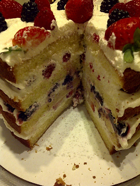 My Triple Berry Cake - 11/3/2010 (2)