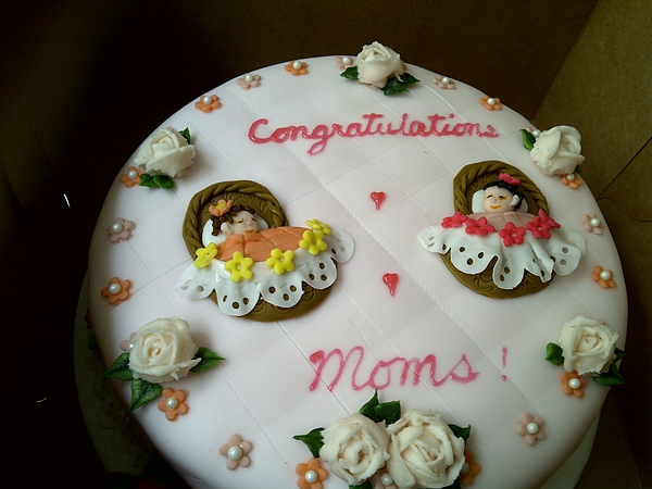 Baby Shower Cake - with Roses