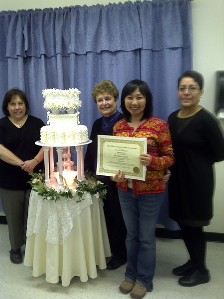 With instructors: (from left) Debbie, Sandy, me and Lorena