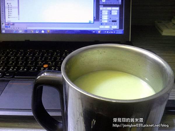 回甘帶韻的新田村有機抹茶拿鐵