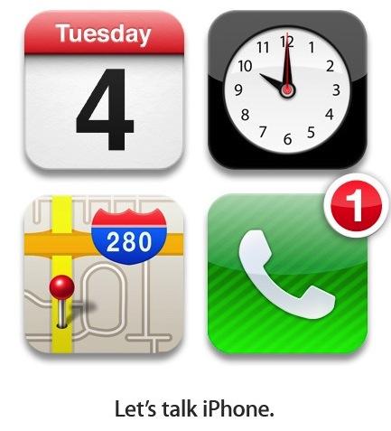 Apple 10/4 iPhone 活動邀請Lets talk iPhone.
