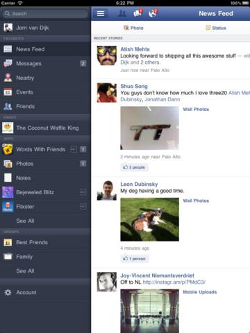 Facebook iPad版推出