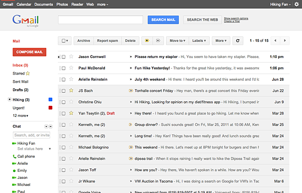 Gmail's new look