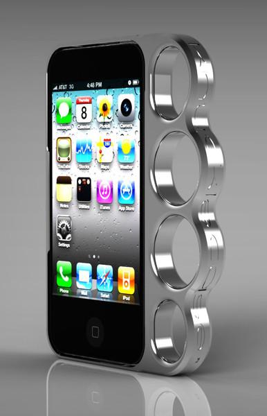 iPhone 4, 4S 手指虎造型 保護殼