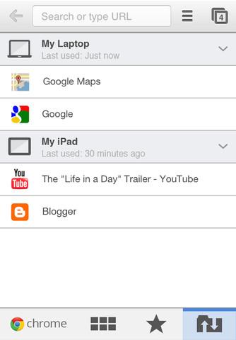 Google Chrome iOS App
