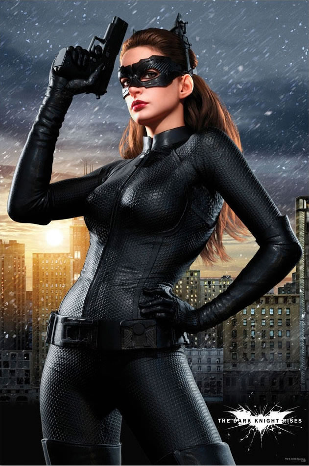 The Dark Knight Rises Anne Hathaway poster
