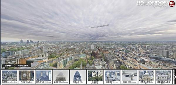 倫敦800億畫素360度全景照片