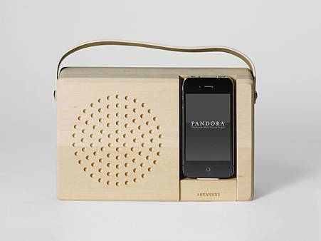 iPhone 4 復古收音機座