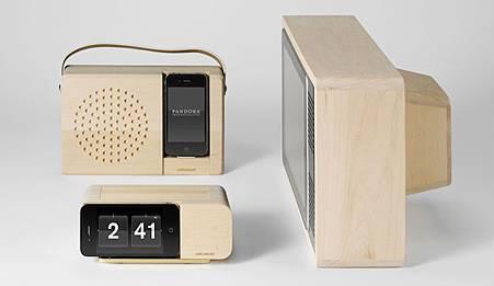 iPhone 4 復古時鐘座+iPhone 4 復古收音機座+iPad復古電視座