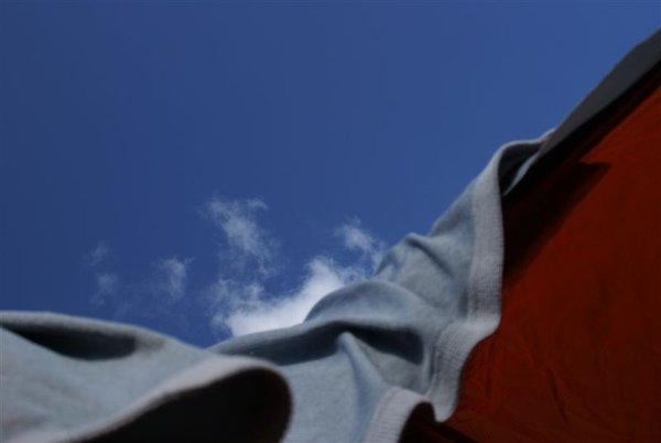 嘉明湖畔~帳外的藍天