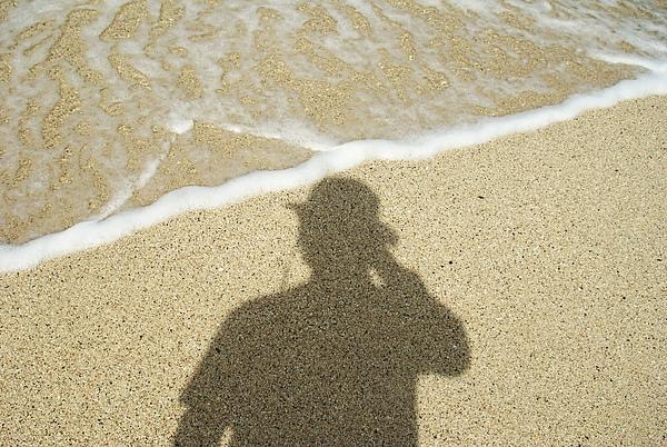 自拍自己的影子