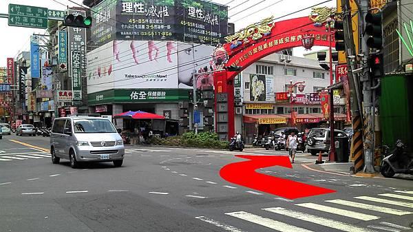 後站走法(1):南大路往竹蓮街竹蓮寺方向前進。