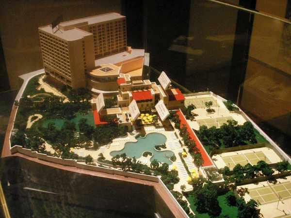 凱悅飯店模型