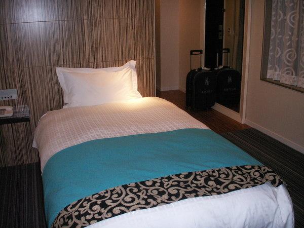 大阪環球影城飯店水藍色系床