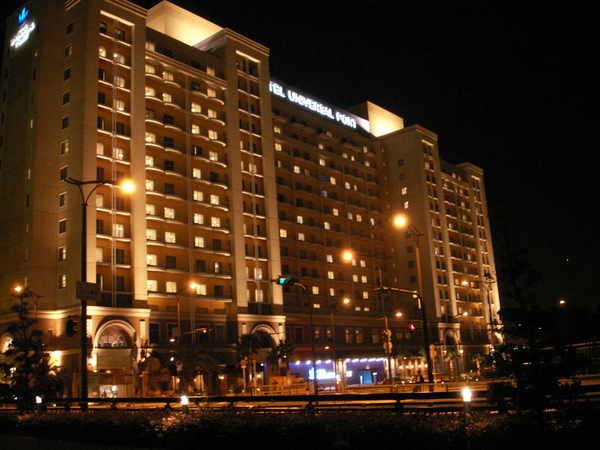 大阪環球影城飯店的夜色