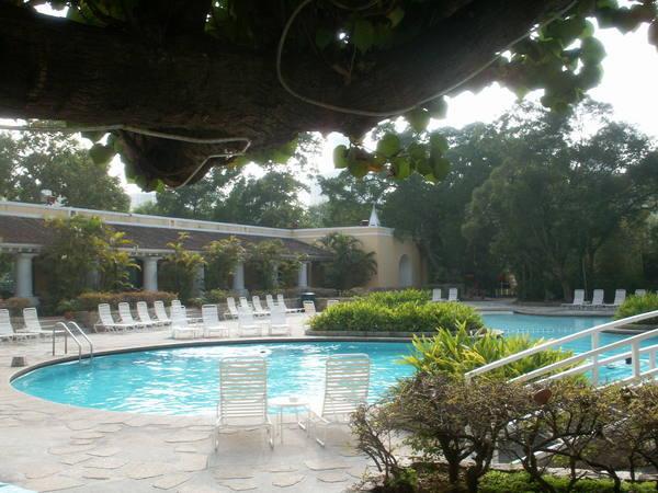 凱悅酒店太白渡假村泳池一景