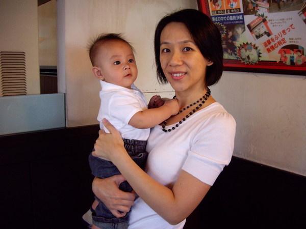 藍白母子裝