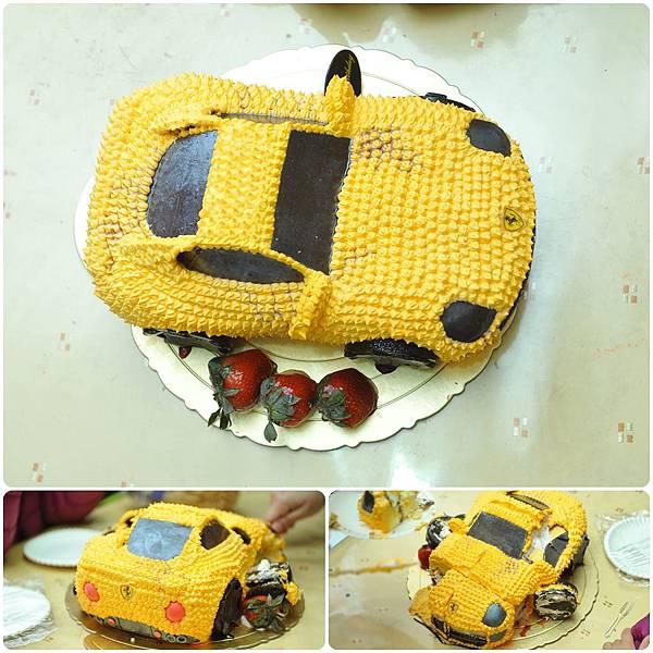 小汽車造型蛋糕