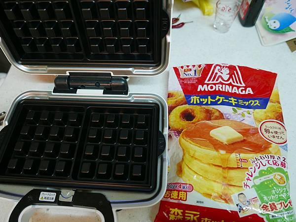森永鬆餅粉及格子烤盤