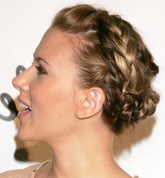 Side-view-of-Braided-Bun-Updos