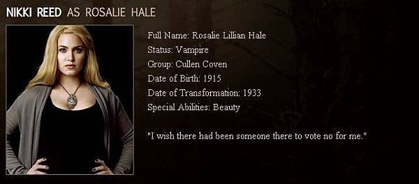 The Twilight Saga : New Moon - Rosalie