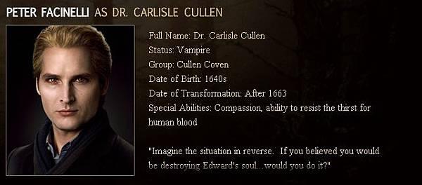 The Twilight Saga : New Moon - Carlisle