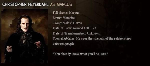 The Twilight Saga : New Moon - Marcus
