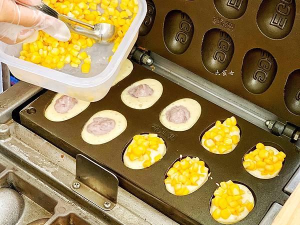 桃園美食,中原夜市,中壢美食,中原大學美食,中原美食,雞蛋糕,銅板美食