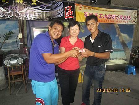 中區大隊長陳英裕先生與團長小心